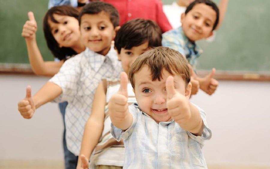 Children On Active Breaks In School Classroom